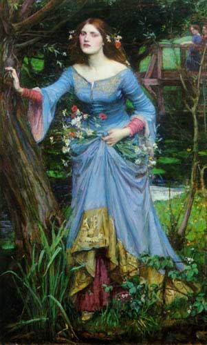 Oil Paintings Production:Waterhouse, John William: Ophelia hspace=