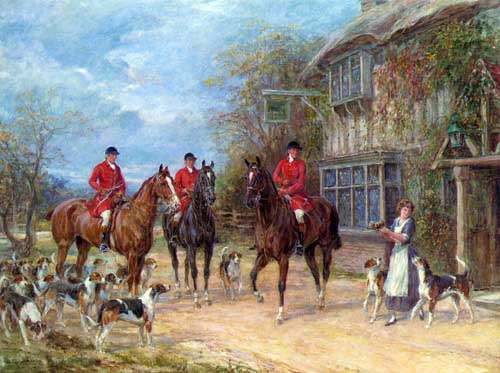 Painting Code#1027-Hardy, Heywood(UK): A Halt at the Inn