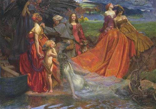 Oil Paintings Production:Waterhouse, John William: Autumn hspace=