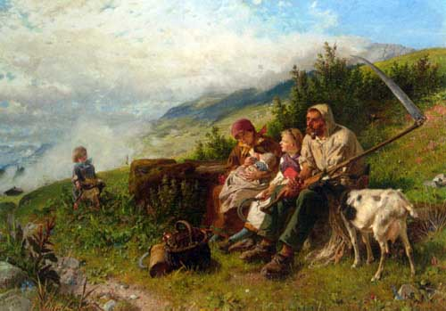 Painting Code#1029-Grob, Conrad(Switzerland): Travelers at Rest