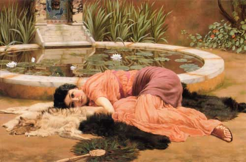 Painting Code#1083-Godward, John William(England): Sweet Nothings