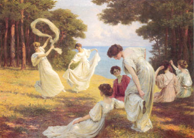 Painting Code#1084-Kowalski, Leopold(France): A Summer's Idyl