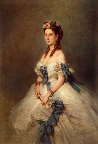 Oil Paintings Production:Winterhalter, Franz Xavier: Alexandra Princess of Wales hspace=