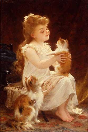 11671 Emile Munier Paintings oil paintings for sale