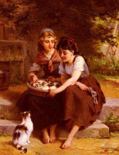11675 Emile Munier Paintings oil paintings for sale
