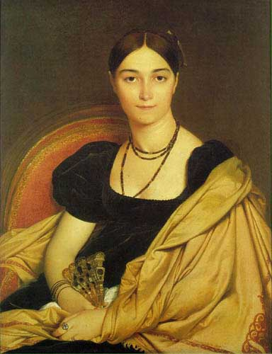 Oil Paintings Production:Ingres: Madame Antonia Devaucay de Nittis hspace=