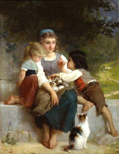 12055 Emile Munier Paintings oil paintings for sale