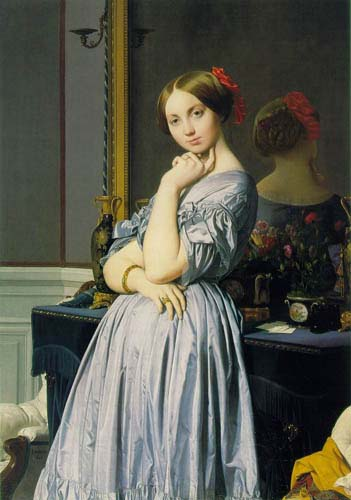 Oil Paintings Production:Ingres: Louise de Broglie, Countesse d'Haussonville hspace=