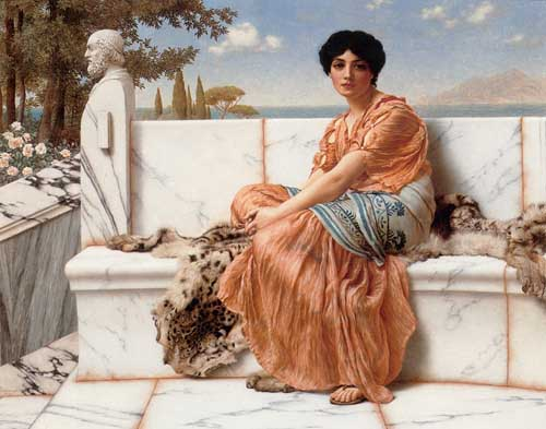 12073 John William Godward paintings oil paintings for sale