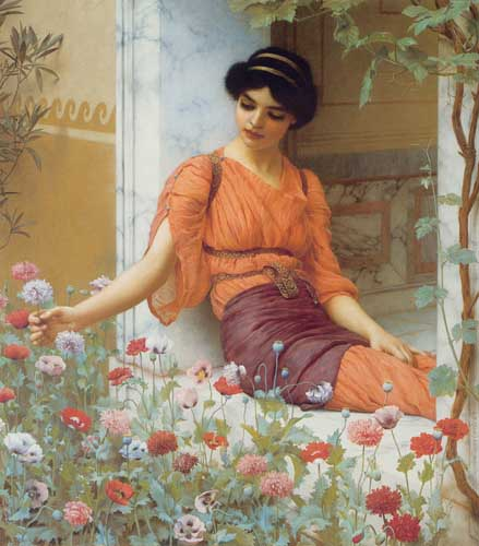12075 John William Godward paintings oil paintings for sale
