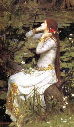 Oil Paintings Production:Waterhouse, John William - Ophelia hspace=