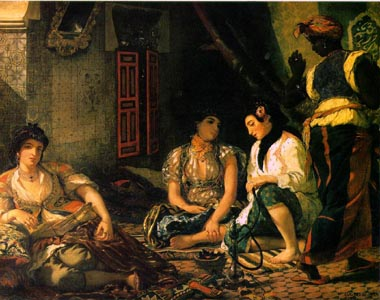 Oil Paintings Production:Delacroix, Eugene: Algerian Women in Their Apartments hspace=