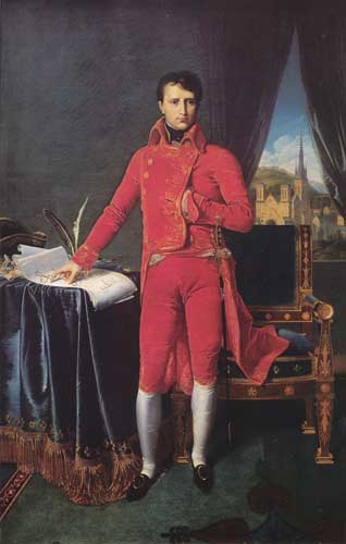 Painting Code#15050-Ingres: Bonaparte as First Consul