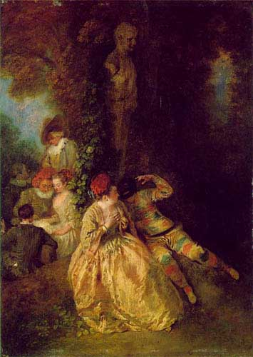 15080 Jean Antoine Watteau Paintings oil paintings for sale