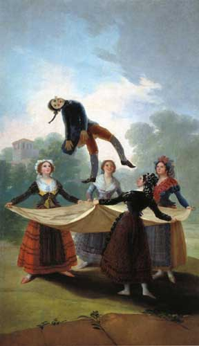 Painting Code#15098-Goya, Francisco: The Straw Manikin