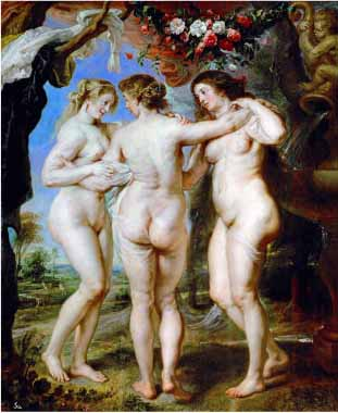 Painting Code#15209-Rubens, Peter Paul - The Three Graces