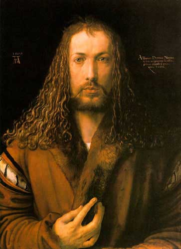 Oil Paintings Production:Durer, Albrecht - Self-Portrait at 28 hspace=
