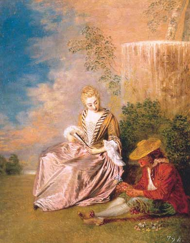 15483 Jean Antoine Watteau Paintings oil paintings for sale