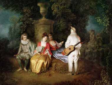 15487 Jean Antoine Watteau Paintings oil paintings for sale