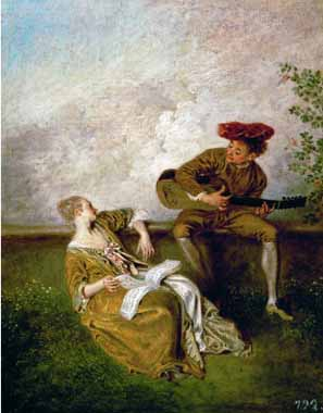 15489 Jean Antoine Watteau Paintings oil paintings for sale