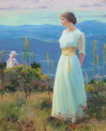 Painting Code#1584-Curran, Charles Courtney: Far Away Thoughts