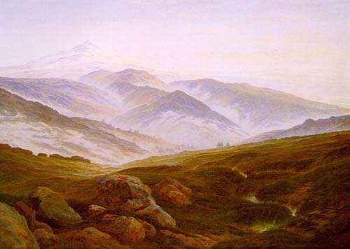 Painting Code#20013-Friedrich, Caspar David(Germany): Riesengebirge