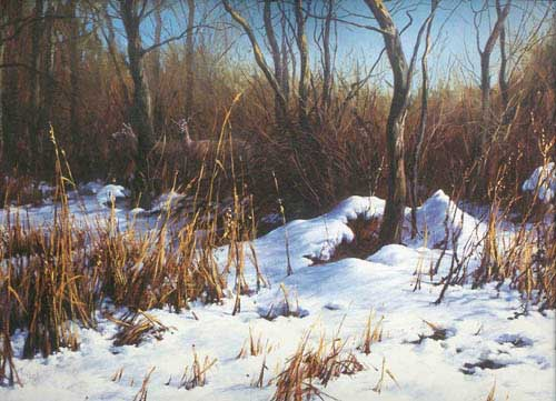 Oil Paintings Production:Landscape in Winter hspace=