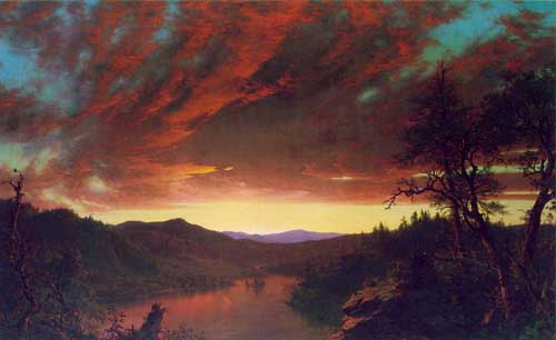 Painting Code#20043-Church, Frederic Edwin: Twilight in the Wilderness