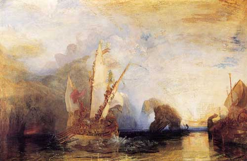 Painting Code#20047-Turner, John Mallord William: Ulysses deriding Polyphemus - Homer's Odyssey