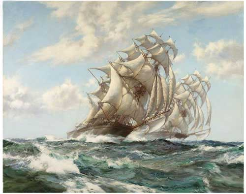 20110 Montague dawson paintings oil paintings for sale