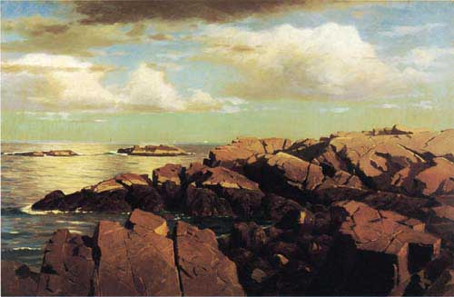 Oil Paintings Production:Haseltine, William Stanley: After a Shower, Nahant, Massachusetts