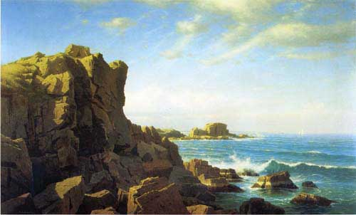 Oil Paintings Production:Haseltine, William Stanley: Nahant Rocks hspace=