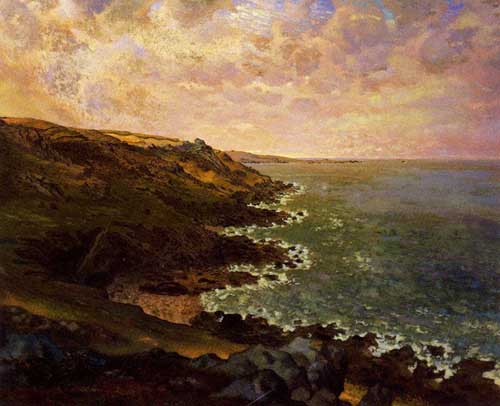 Painting Code#20331-Millet, Jean-Francois - The Cliffs of GGreville