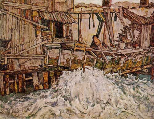 Painting Code#20377-Egon Schiele - The Mill