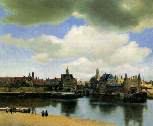 Oil Paintings Production:Vermeer, Jan: View of Delft hspace=