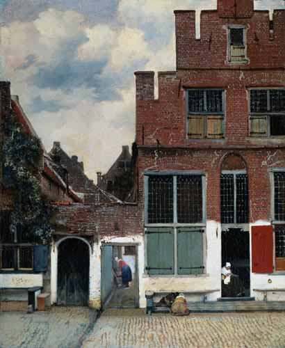 Oil Paintings Production:Vermeer, Jan: Little Street hspace=