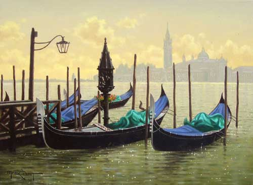 Oil Paintings Production:Venice: Molo San Marco hspace=