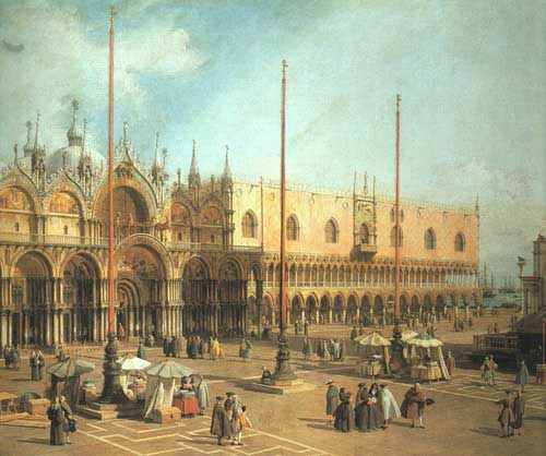 Painting Code#2144-Canaletto(Italy): Piazza San Marco - Looking Southeast