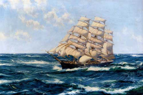2162 Montague dawson paintings oil paintings for sale