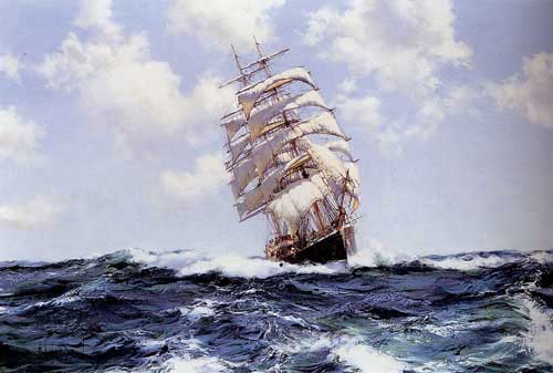 2164 Montague dawson paintings oil paintings for sale
