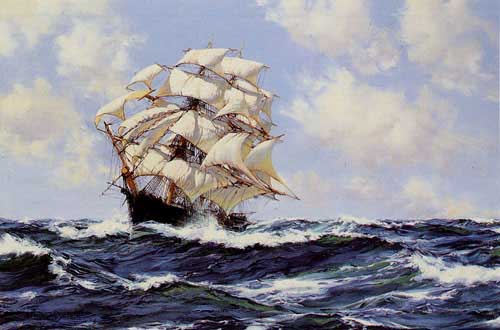 2165 Montague dawson paintings oil paintings for sale