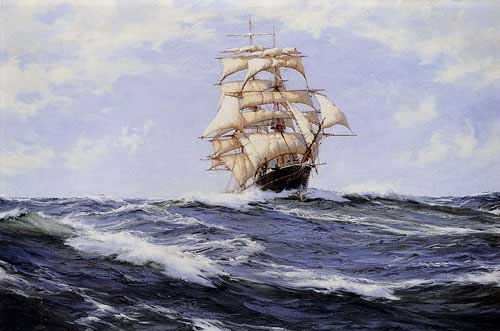 2167 Montague dawson paintings oil paintings for sale