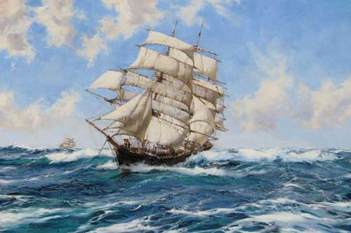 2184 Montague dawson paintings oil paintings for sale
