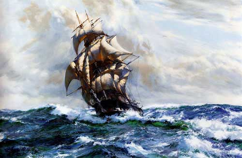 2185 Montague dawson paintings oil paintings for sale