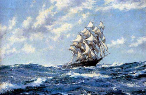 2186 Montague dawson paintings oil paintings for sale