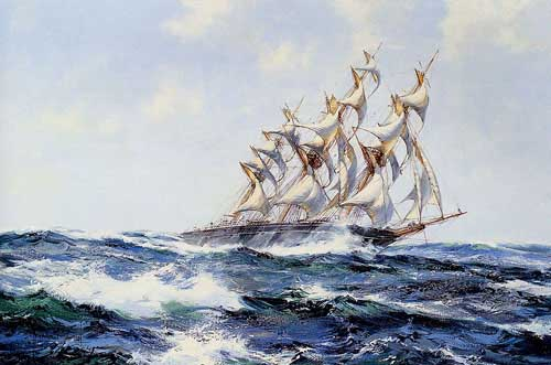 2187 Montague dawson paintings oil paintings for sale