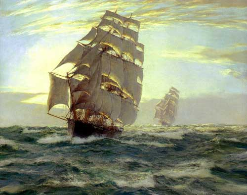 2188 Montague dawson paintings oil paintings for sale
