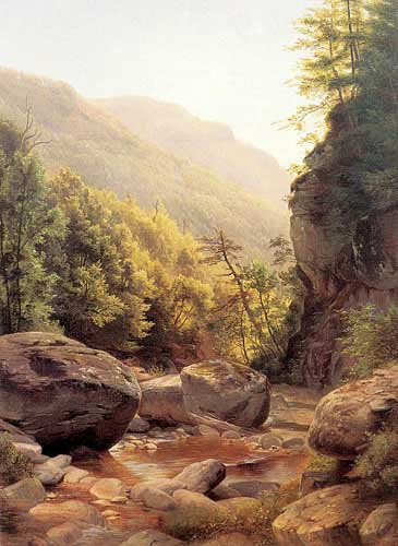 Painting Code#2205-Peale, Harriet Cany(USA): View in the Kaaterskill Cove