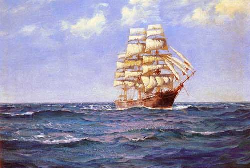 2322 Montague dawson paintings oil paintings for sale