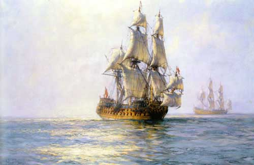 2332 Montague dawson paintings oil paintings for sale